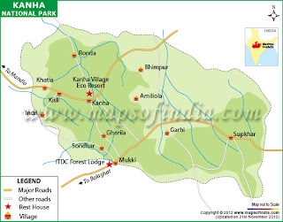 Map of Kanha Tiger Reserve