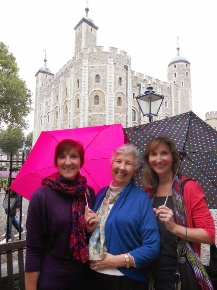 with Mary and Mama at the Tower of London