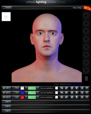 Simulador iluminación fotografía