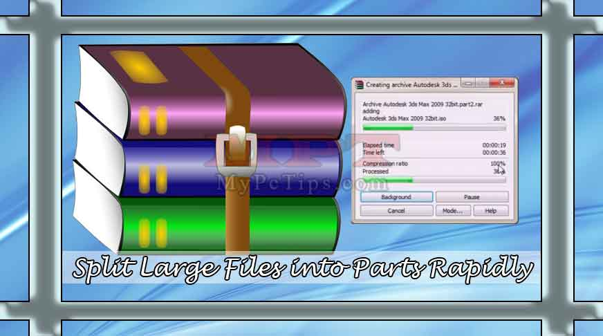 Quickly Split Files into Parts with WinRar - My PC Tips