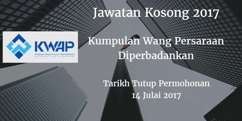 Jawatan Kosong Kumpulan Wang Persaraan Diperbadankan 14 Julai 2017