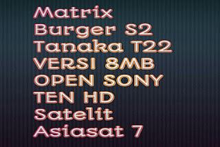 Receiver Matrix Burger S2 Tanaka T21/22 Open Sony Ten HD Update