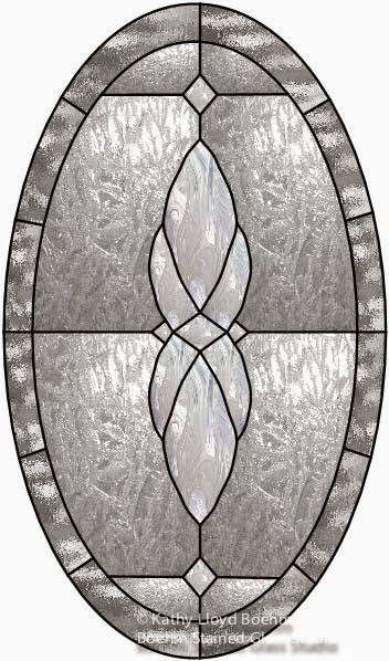 Boehm Stained Glass Blog Oval Stained Glass Window with Bevels