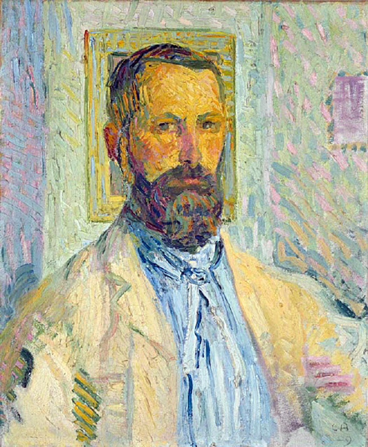 Cuno Amiet, Self Portrait, Portraits of Painters, Fine arts, Portraits of painters blog, Paintings of Cuno Amiet, Painter Cuno Amiet