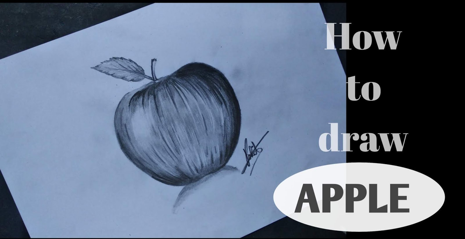 How to draw apple how to draw apple with pencil apple realistic drawing