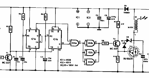 transistor ignition circuit diagram