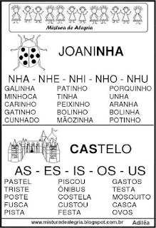 Fichas de leituras letras NH-AS