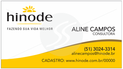 cartao de visita hinode sao paulo - Cartões de Visita Hinode