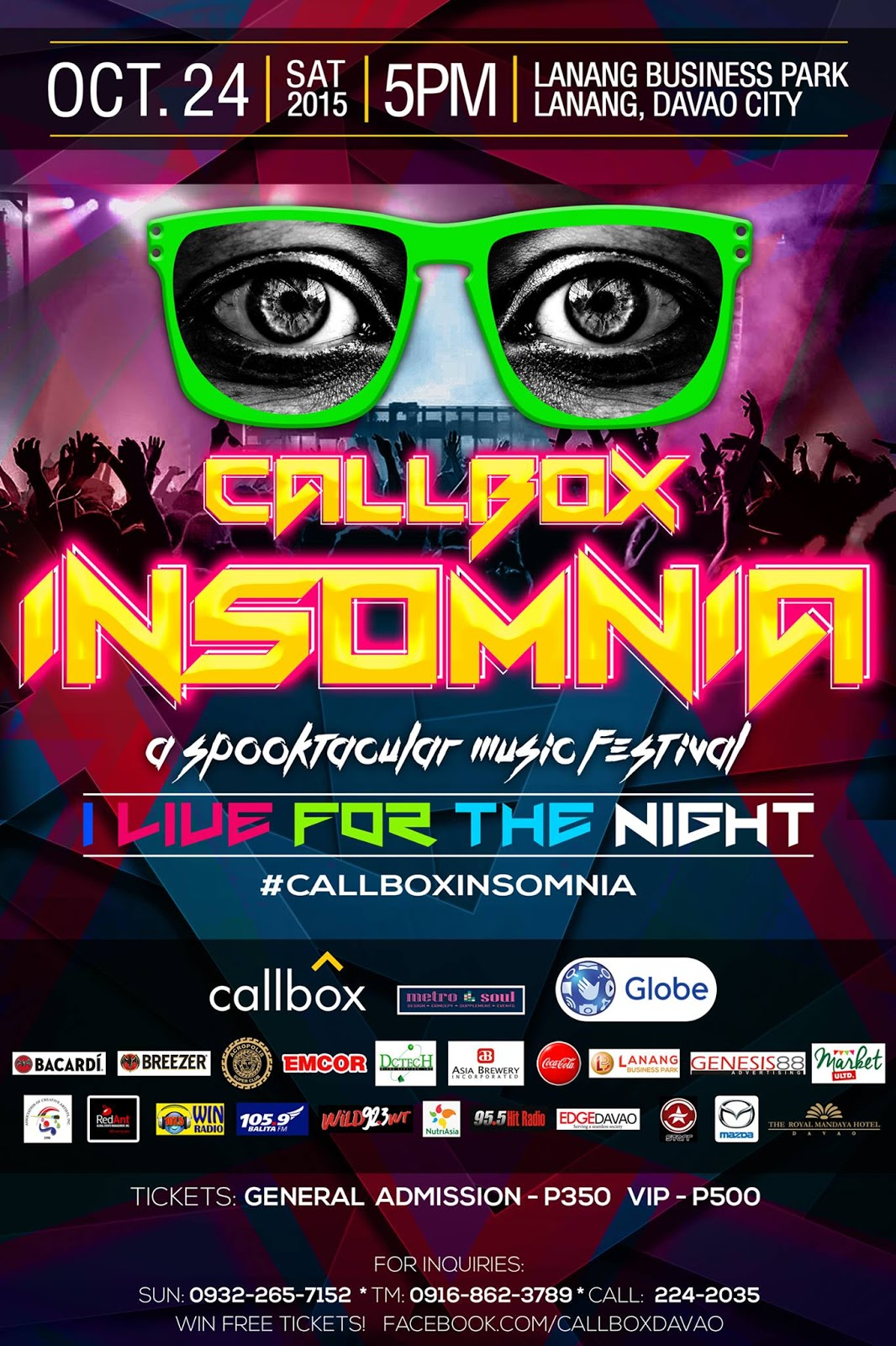 Callbox Insomnia 2015 : What to bring? + VIP ticket giveaway
