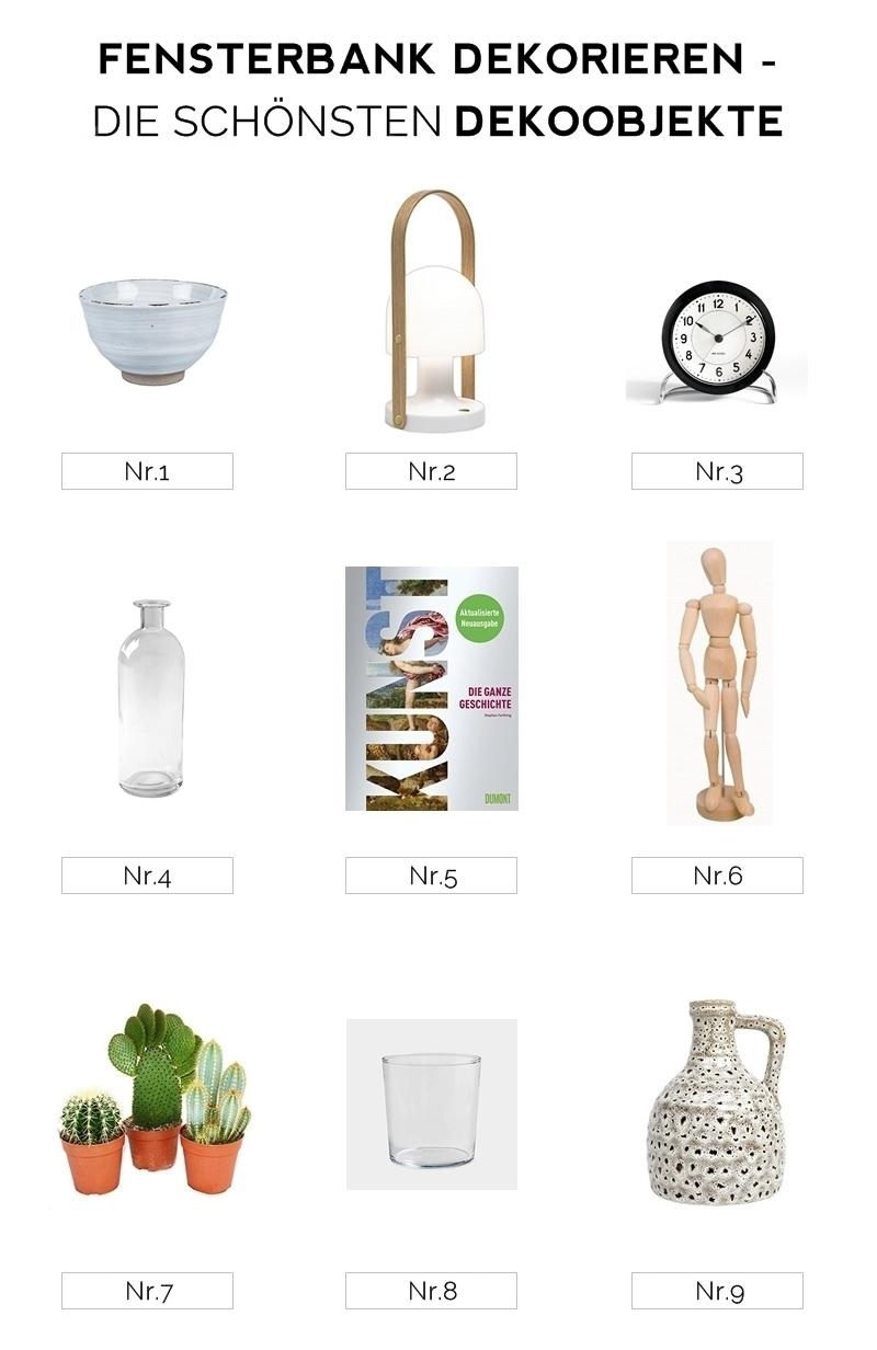 Stylingtipps: Fensterbank dekorieren, 4 mal anders + die schönsten Dekoobjekte für die Fensterbank. Tasteboykott.