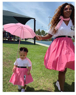 Serena Williams And Daughter Step Out In Matching Outfits