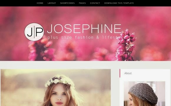 JosePhine blogger template is a light & bright blog theme,