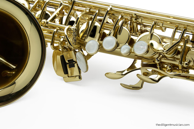 SeleS Axos Alto Saxophone Left Hand stack
