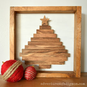 Wooden Christmas Tree Shadowbox Sign Adventures Of A Diy Mom