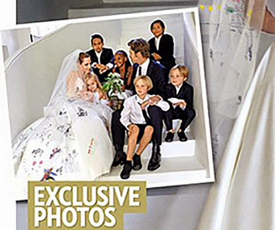 photos from the wedding of Angelina Jolie and Brad Pitt