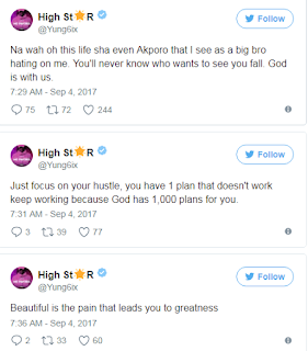 Yung6ix's reply to akpororo's Joke which was maybe to shade him