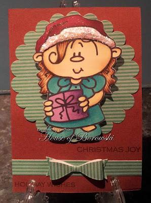 Diecut Divas, Bugaboo Christmas Kids-Girl 3