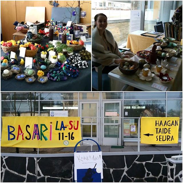 Kuvia Haagan Taideseuran pääsiäisbasaarista vuodelta 2017