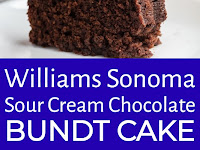 Williams Sonoma Sour Cream Chocolate Bundt Cake