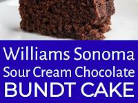 Williams Sonoma Sour Cream Chocolate Bundt Cake