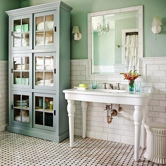 Bathroom Vanity Pulling Away From Wall: Amber Bottle House: Half-Bath Vanity