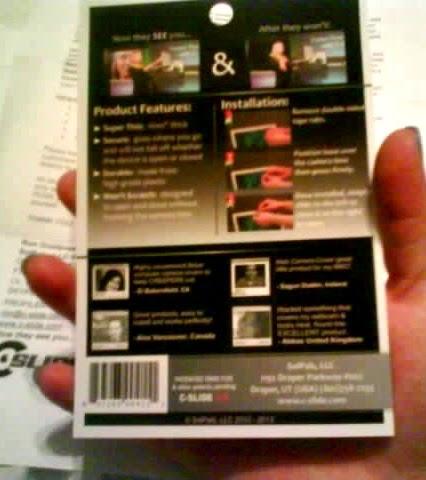 C-SLIDE Webcam Cover - Michelles Comments