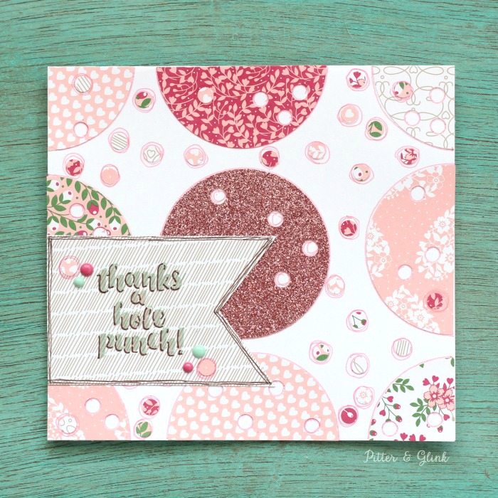 """Thanks a Hole Punch"" Card 