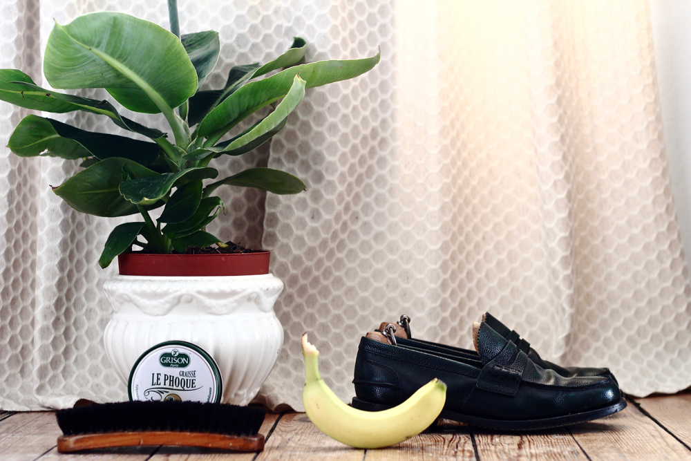 BLOG_MODE_STYLE-homme-masculin-deco-cirer-ses-chaussures-ans-cirage-naturel-banane-bananier-ma-plante-mon-bonheur