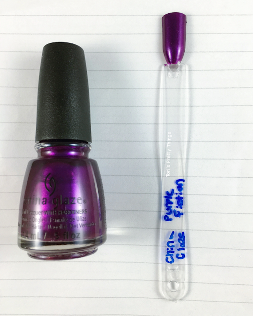 China Glaze Purple Fiction Swatch