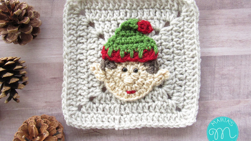 WEEK 7 - Christmas Granny Afghan CAL - Elf