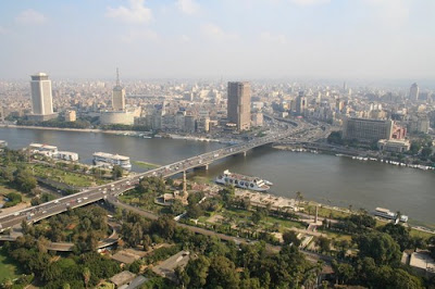 The 6th October Bridge in central Cairo, Egypt