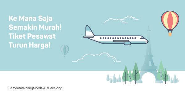 Cari Tiket Pesawat di Bukalapak Mudah dan Murah