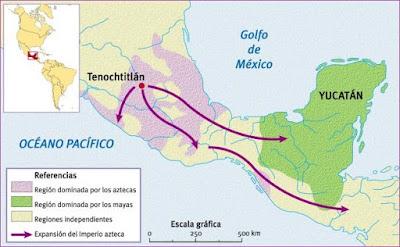 Mapa de la cultura azteca