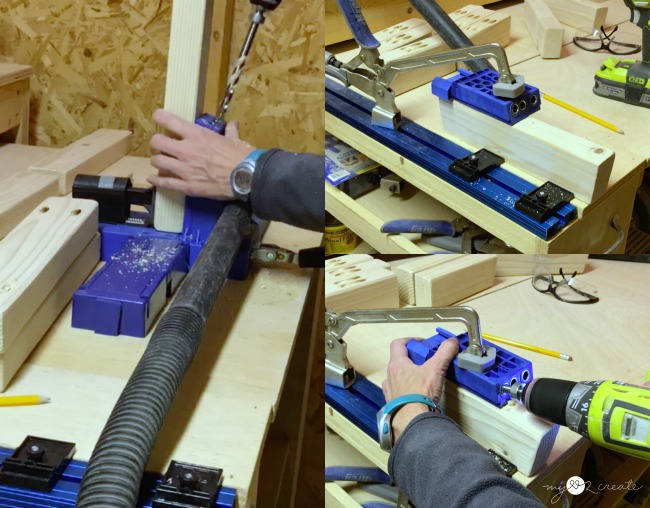 drilling pocket holes with a kreg jig