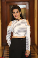 Manjusha in sleevelss crop top and black skirt at Darshakudu pre release ~  Exclusive Celebrities Galleries 083.JPG