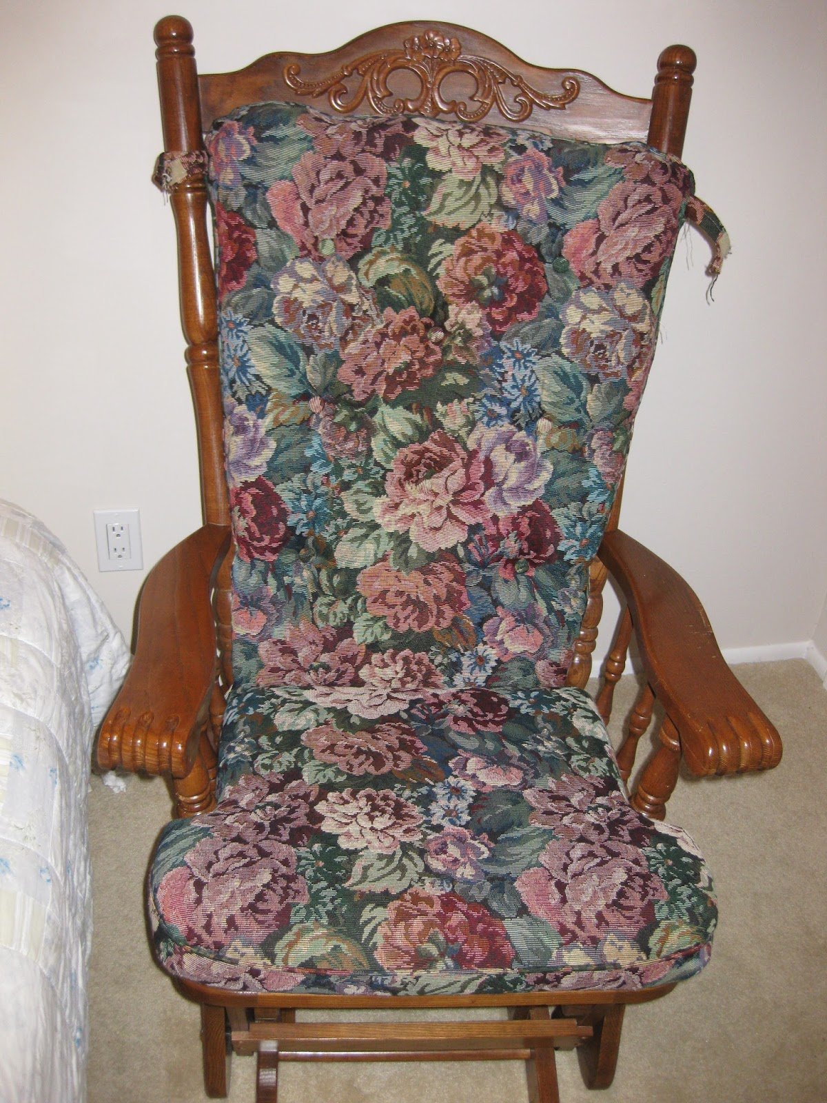 aunt priscilla has a rocking chair marcy inversion table where 39s my dream life cushion re do