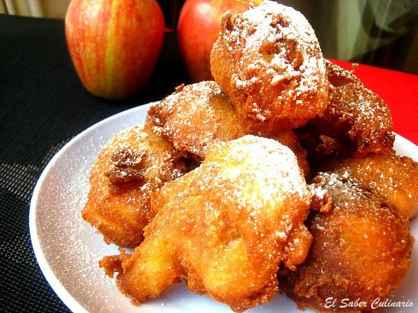 Buñuelos caseros de manzana y canela