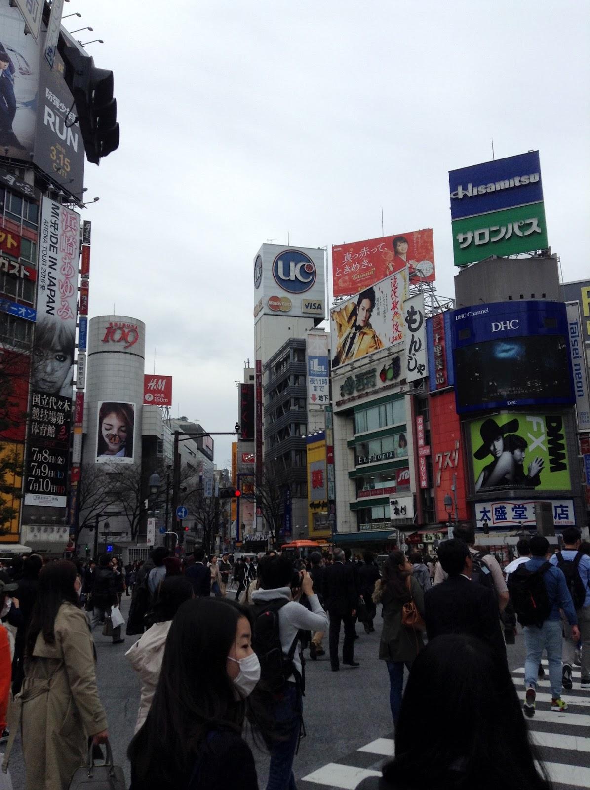 Japanese streets Shibuya Tokyo