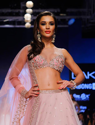 Amy jackson Walks At Lakme fashion week LFW 2015