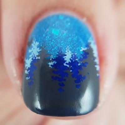 nail art, stamped nail art, layered stamping, Lina nail art supplies, clear jelly stamper