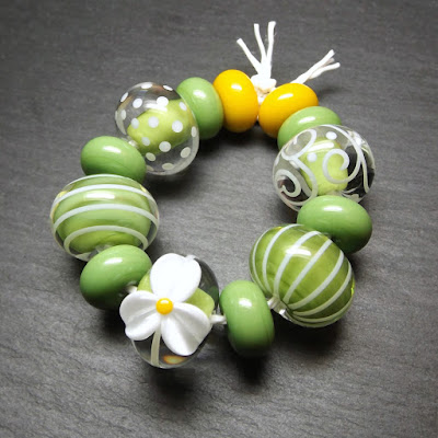 Lampwork glass beads in Creation is Messy 'Meadow'