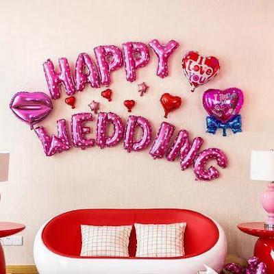 Bóng bay trang trí phòng cưới.4