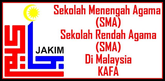 Senarai Sekolah Agama Malaysia - Zon Utara- Negeri Perlis, Kedah, Pulau Pinang dan Perak.