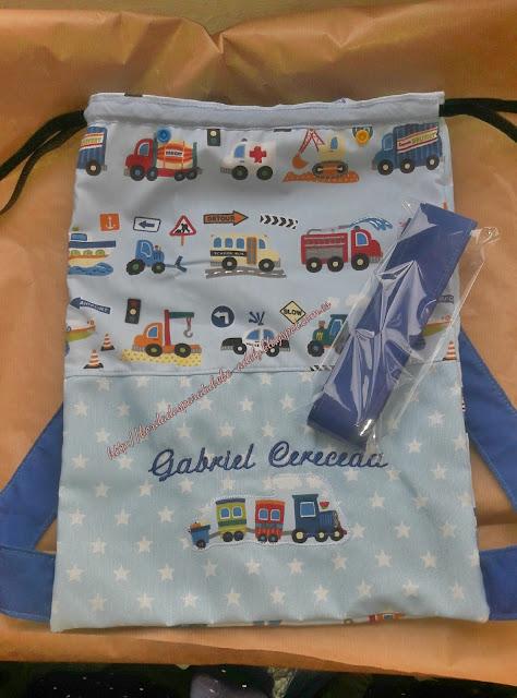 Bolsa mochila personalizada nombre