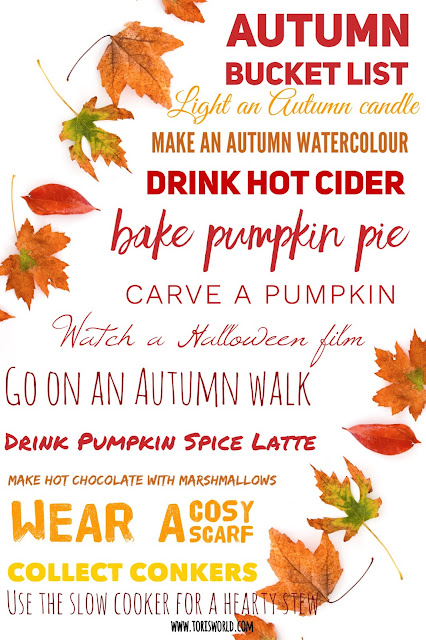 Autumn or Fall Bucket List #lbloggers #fall #autumn #bucketlist