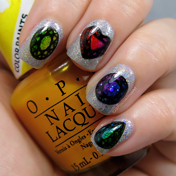 Nail Art // Rainbow Jewel Leadlighting for The 30 Days of Colour ...