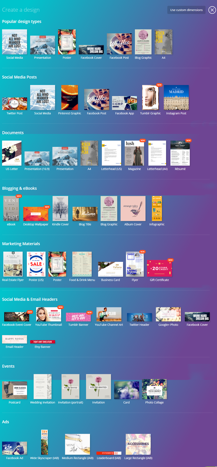 Canva graphic designing free tool