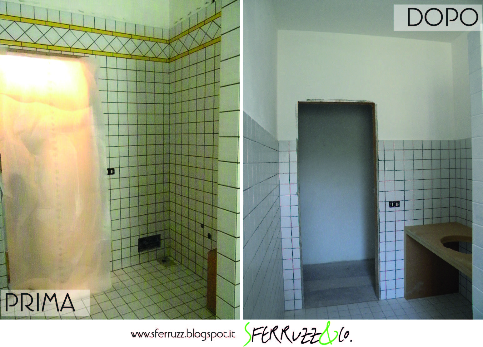 sferruzz co t g house il bagno blu makeover parte 1