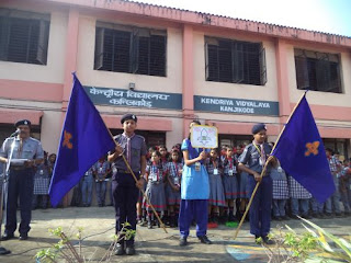 Bharat Scouts and Guides Flag Day  Library  Kendriya Vidyalaya