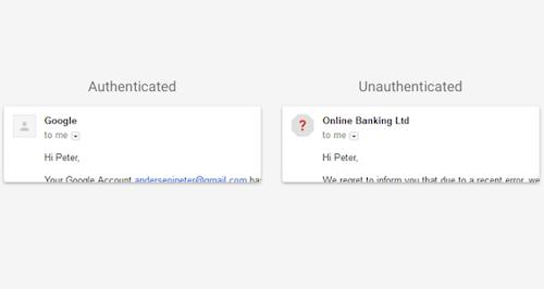 Tính năng cảnh báo email giả mạo gmail